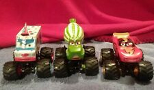 DISNEY CARS TOON MONSTER TRUCK PADDY, FRIGHTNING MCMEAN & I-SCREAMER LOT OF 3