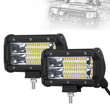 "2x 5""INCH 144W LED Work Light Bar Spot Pods Driving OffRoad Tractor 4WD ATV 12V"