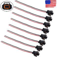 8pcs Fuel Injector Pump Crank Position Oil Temp Knock Sensor Connector Harness