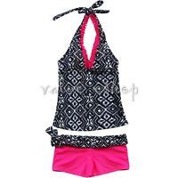 2Pcs Girls Kids Halter Tankini Set Swimwear Swimsuit Swimming Costume Age 7-14Y