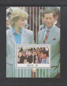 Nevis - 1991, Prince & Princesse De Galles Anniversaire Feuille - MNH - Sg MS631