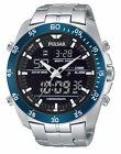 Pulsar of SEIKO Men's PW6013 Analog Digital Display Japanese Quartz Silver Watch