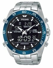 Pulsar of SEIKO Men's PW6013 Analog Digital Display Japanese Quartz Silver Watch