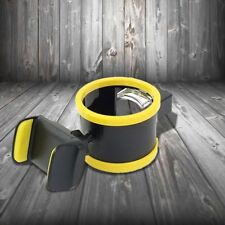 Yellow Car Clip On Air Vent Mount & Drink Bottle Cup Holder Stand Phone Holder