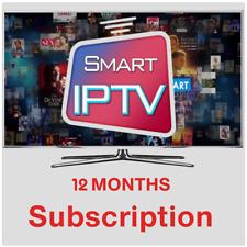 12 months Smart IPTV subscription 2000 channels