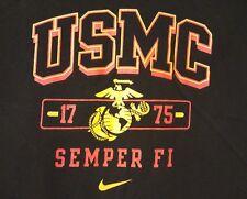 USMC NIKE PRE-OWNED Semper Fi Size XL Black/Red T-Shirt