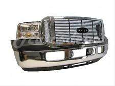 FOR 2005-2007 F250 F350 FRONT BUMPER CHR BAR UPPER APRON GRILLE FOG HEADLIGHT 8P