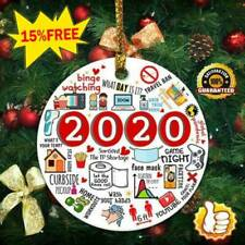 2020🎄The Year Of Global Pandemic Funny Quarantine Circle Christmas Ornament HOT