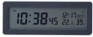 MUJI Digital Radio Clock (with loud alarm function) Table Clock / Black 8213696