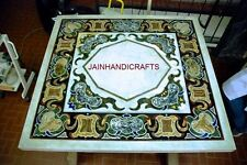 2'x2' marble dining coffee center corner side inlay malachite square table top
