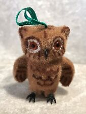 Vintage Kunstlerschutz Handwork Owl Christmas Ornament