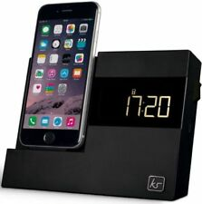 Docking station e mini speaker sveglia nero per lettori MP3 Apple