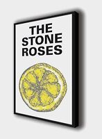 The Stone Roses - Lemon - Wall Canvas Picture Print Wall Art 63cm x 40cm