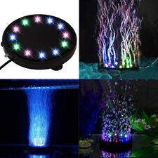 12 LED Submersible Bubble Light Air Stone for Aquarium Fish Tank Pump Curtain UK