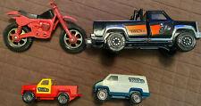 Vintage 1978 Tonka Motocross Team Pickup Truck & Orange Bike & Bonus Car Van