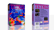 Tetris NES Replacement Spare Game Case Box + Cover Art Work (No Game)