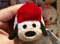 "New Disney Store Tsum Tsum Rocket Ship Goofy Plush Toy 3.5"""