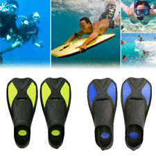 Adults Swimming Snorkelling Training Fins Flippers Snorkel Diving Flippers Short