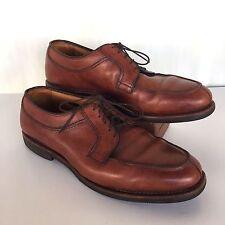 Allen Edmonds Sz 11D Stockbridge Shoes Brown Split Toe Oxfords Tie Made In USA
