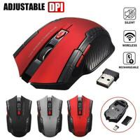 2.4GHz Wireless Rechargeable USB Optical Ergonomic Gaming Mouse For PC Laptop