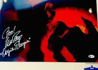Ken Page signed Jack Skellington 11X17 METALLIC photo BAS COA WA04919