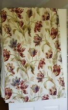 2 PAIRS OF LAURA ASHLEY GOSFORD CRANBERRY CURTAINS ( 135x163cm) 53 x 64 in Tulip