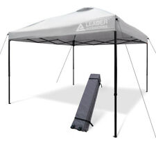 Leader Accessories 10x10  Straight Wall Instant Canopy with wheeled Carry Bag