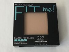 Maybelline Fit Me Matte + Poreless Powder Makeup #222 True Beige 0.29 oz New