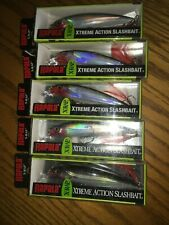 Rapala X-Rap-10's-lot of 5 Silver Colored-Fishing Lures-Xr10