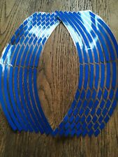 16 Blue Wheel Rim Reflective Stickers Stripe Motorbike Safe Motorcycle Bike