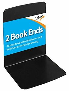 Heavy Duty Metal Book Ends Shelf Bookends Home Office School Shelves 1 Pack of 2