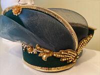 Dark Emerald Green Deborah Of New York Dress /Church Hat