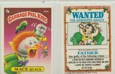 GARBAGE PAIL KIDS SERIES 3 STICKERS # 106 B MACK QUACK VG/EX