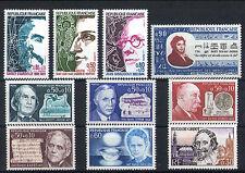 France 10 timbres non oblitérés gomme**  13  Célébrités
