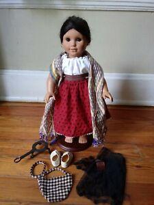 "American Girl Doll JOSEPHINA 18"" Outfit Pleasant Company Bag Trivet Cocina"