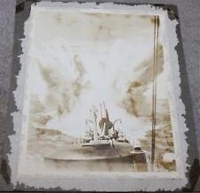 VINTAGE PHOTO WWI ERA SHIP DESTROYER STERN DEPTH CHARGE 8 X 10