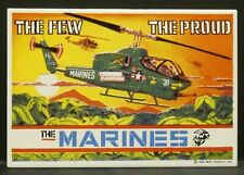 """Dollhouse Miniatures Metal Sign The Few The Proud The Marines Cobra 2 7/8"""" x 2"""""""