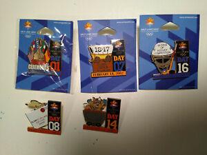2002 Salt Lake Winter Olympics Day Pin 5 piece Set