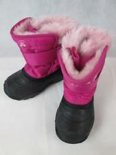 KAMIK TODDLER GIRLS PINK/BLACK SNOW WATER PROOF BOOTS SZ. 8 NEW