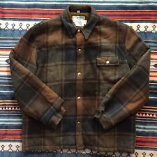 Vintage Montgomery Ward Mens Chore Field Jacket Size Large Plaid Snap Button