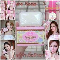 New Pure Soap Jelly Whitening Skin Aging Gluta Anti Body Lightening White Soap