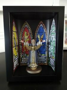 DUMBLEDORE FIGURE HARRY POTTER COLLECTION BY EAGLEMOSS PRESENTED IN A  FRAMED