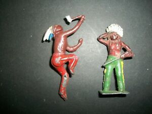 UNKNOWN BRAND 54MM HOLLOW CAST INDIANS