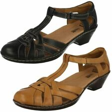 Clarks Strappy, Ankle Straps 100% Leather Heels for Women
