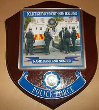 Northern Ireland Police Riot Control Wall Plaque personalised free of charge.