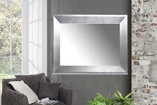 Designer Holz XXL Wandspiegel Spiegel 110x90 cm  in elegantem Silber MODERN