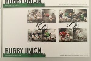 2021 150 Years of Rugby Union Set of 8 on FDC Rugby Union Twickenham  Postmark