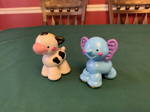 Amazing Animals Minis Lot Of 2 Cow And Elephant