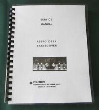 Cubic/Swan 102Bx Service Manual: Includes 31 foldout schematics & Plastic Covers