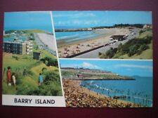 POSTCARD RP GLAMORGAN BARRY ISLAND - THE KNAP - PROMENADE - NELL'S POINT